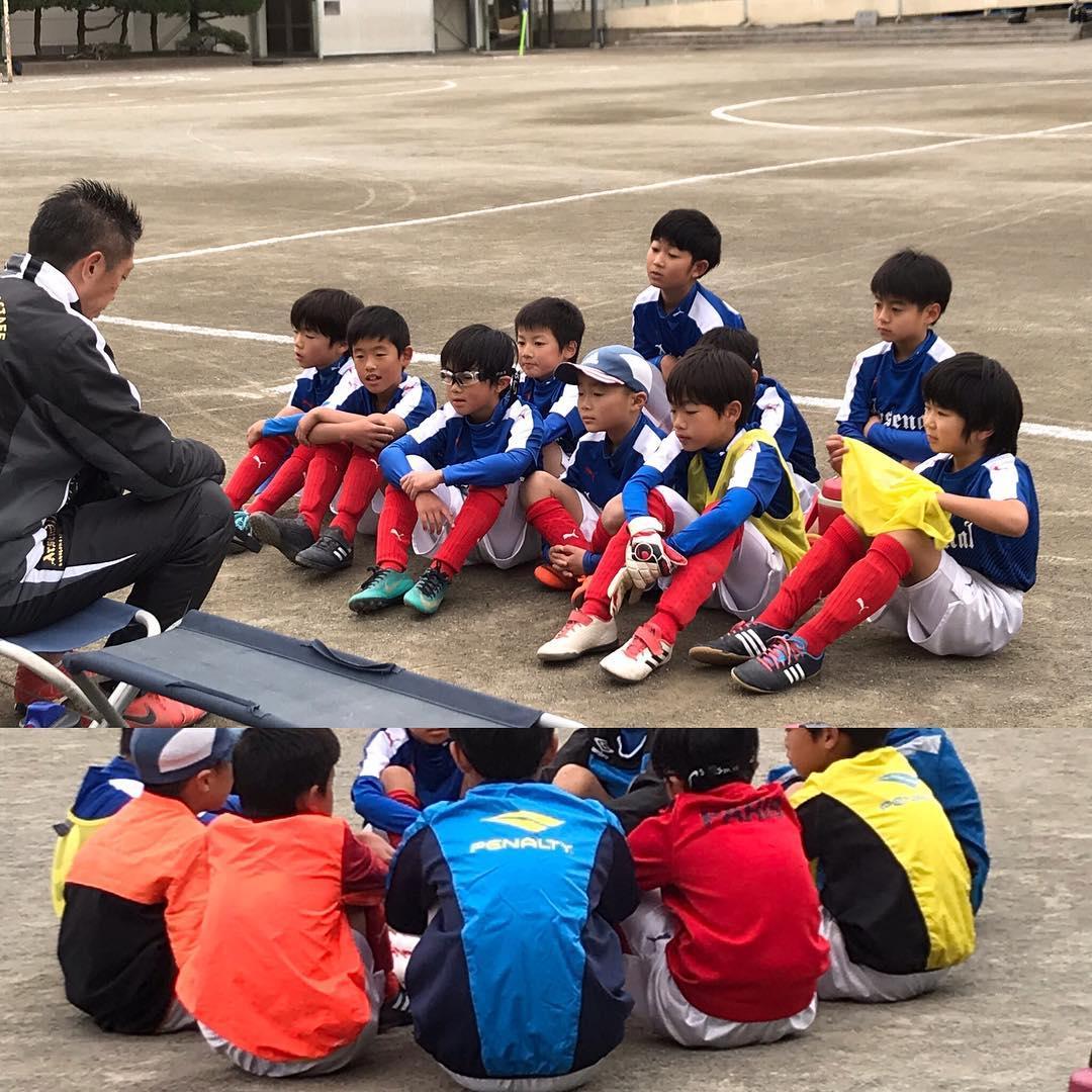 松浪FCと練習試合。 #鵠洋アーセナル #少年サッカー